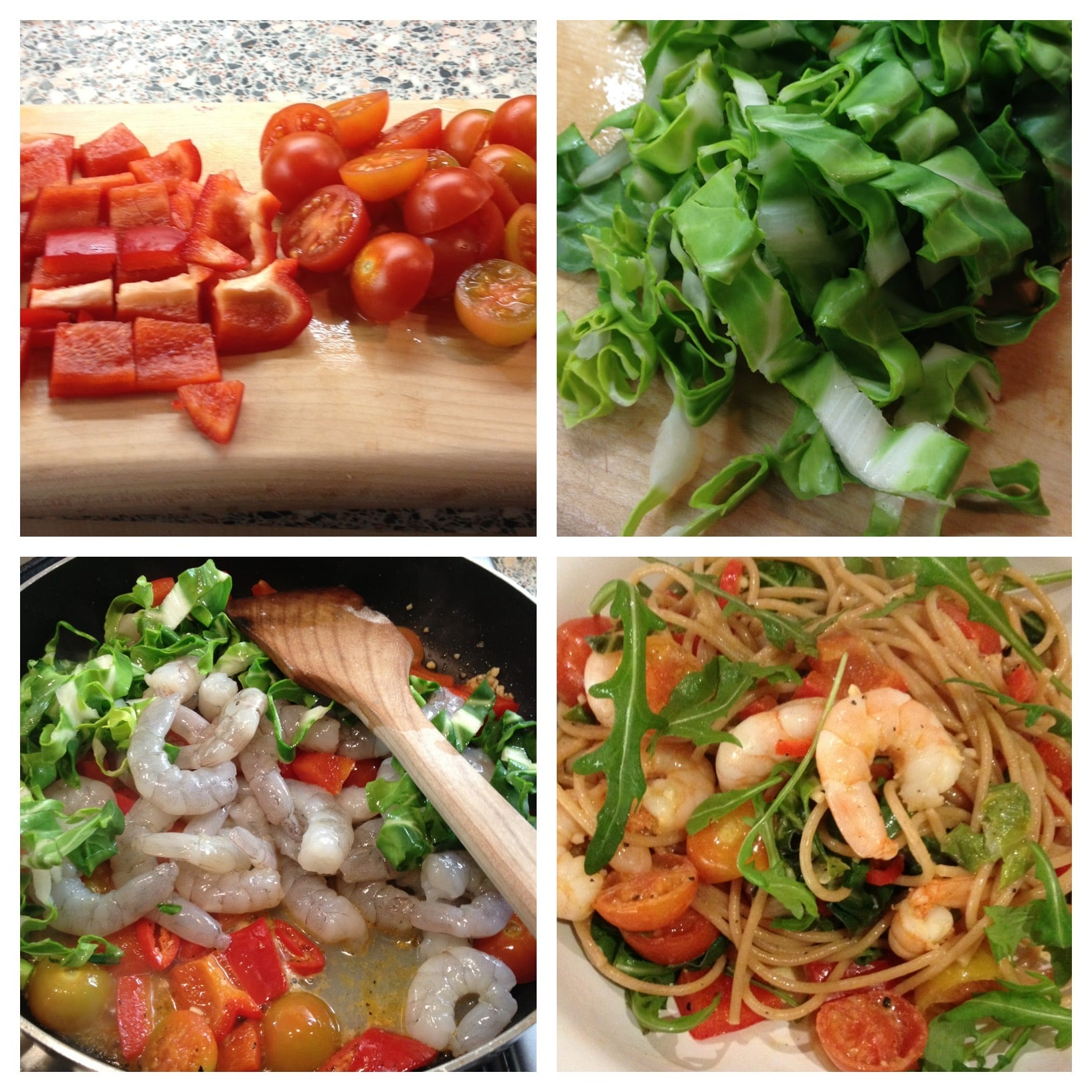 King Prawn & Cherry Tomato Spaghetti with Chilli & Garlic