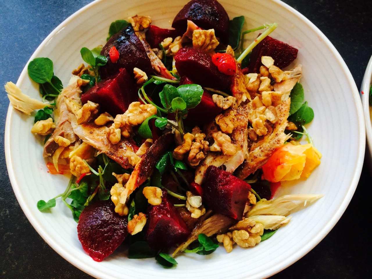 Mackerel, Beetroot and Orange Salad